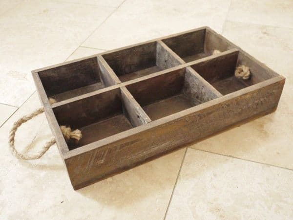 Set Of 2 Rustic Wooden Crates